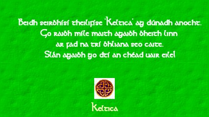 Keltica caption - closing down