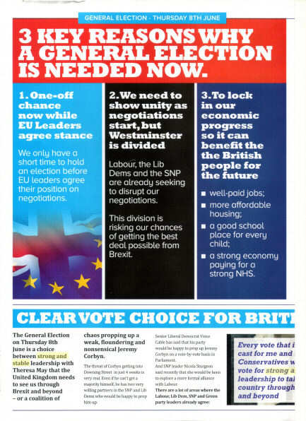 2nd page of a Tory propaganda leaflet