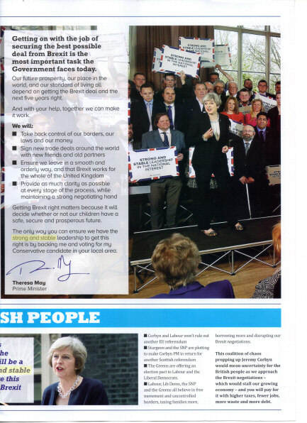 3rd page of a Tory propaganda leaflet