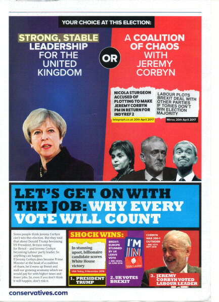 4th page of a Tory propaganda leaflet