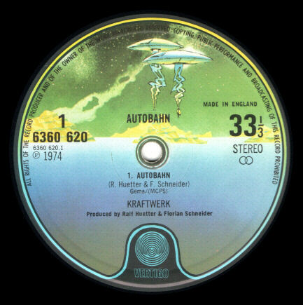 Picture of the label of 'Autobahn' by Kraftwerk