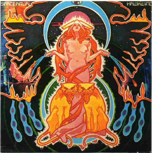 Front sleeve of 'Space Ritual' by Hawkwind