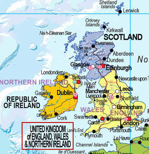 Detail from the previous image, showing 'United Kingdom of England, Wales and Northern Ireland'