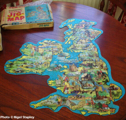 Photo of a jigsaw map of the British Isles